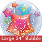 Large Stars and Streamers Bubbles Balloon