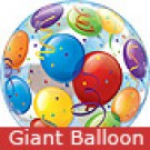 Large Colourful Balloons Bubble Balloon