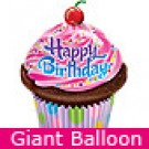 Large Birthday Frosted Cupcake Balloon