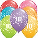 10th Birthday Stars Balloons