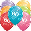 60th A-Round Birthday Balloons