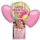 3 Balloons Bouquet & Cuddly Toy
