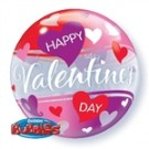 Happy Valentines Day Purple Hearts